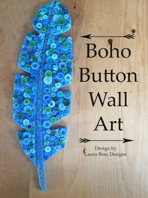 Boho Button Wall Art