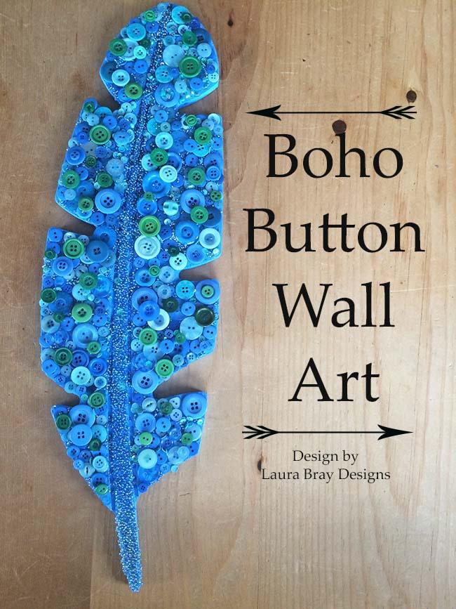 Boho Button Wall Art