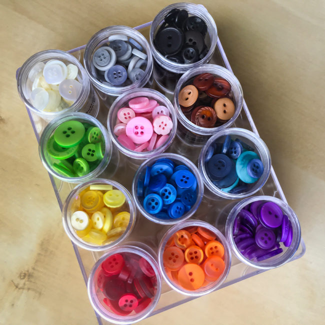 5 easy & affordable button storage ideas for crafters