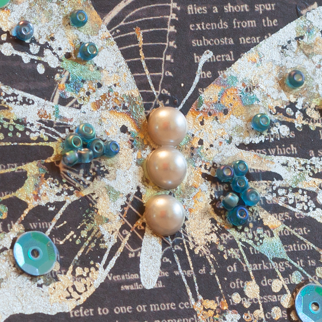 Embellished Butterfly card detail