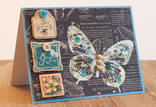 Embellished Butterfly Card
