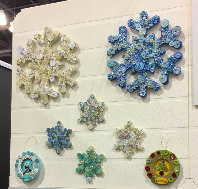 Button Snowflake Wall Art