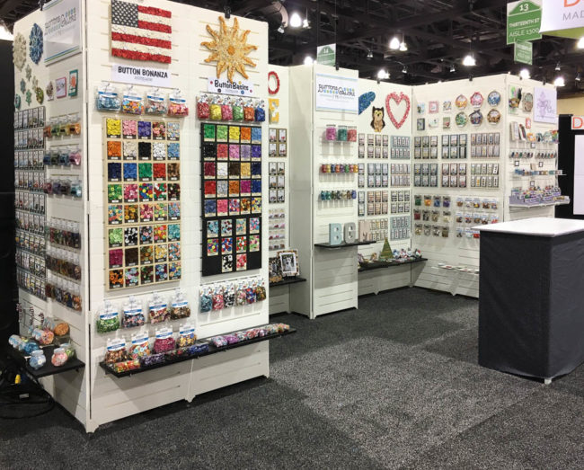 Buttons Galore Creativation 2017 booth