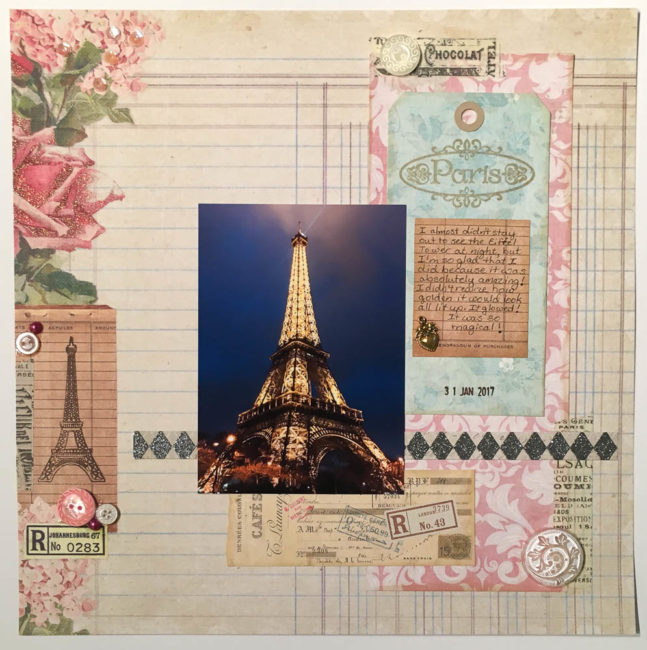 Paris Scrapbook Layout