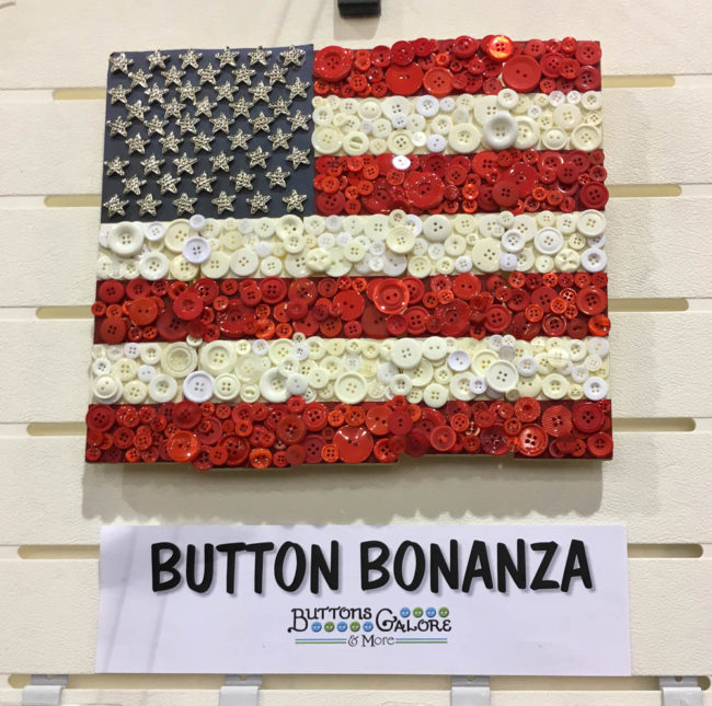 button flag wall art