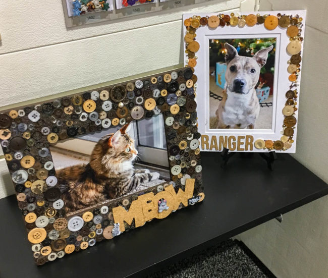 Button Pet Picture Frames