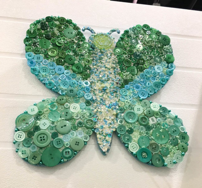 Button Butterfly Wall Art