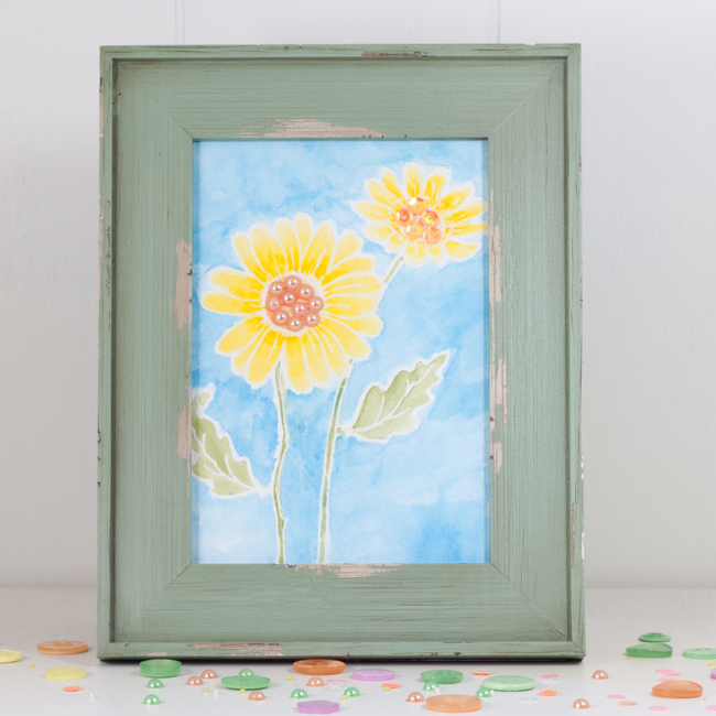 Watercolor Spring Flowers Frame
