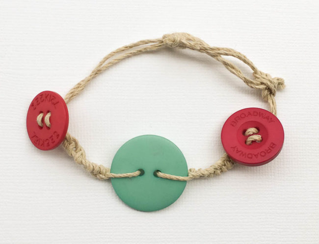 Hemp Button Bracelet
