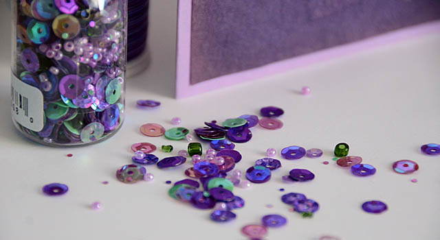Wisteria Hues Bead and Sequin Mix