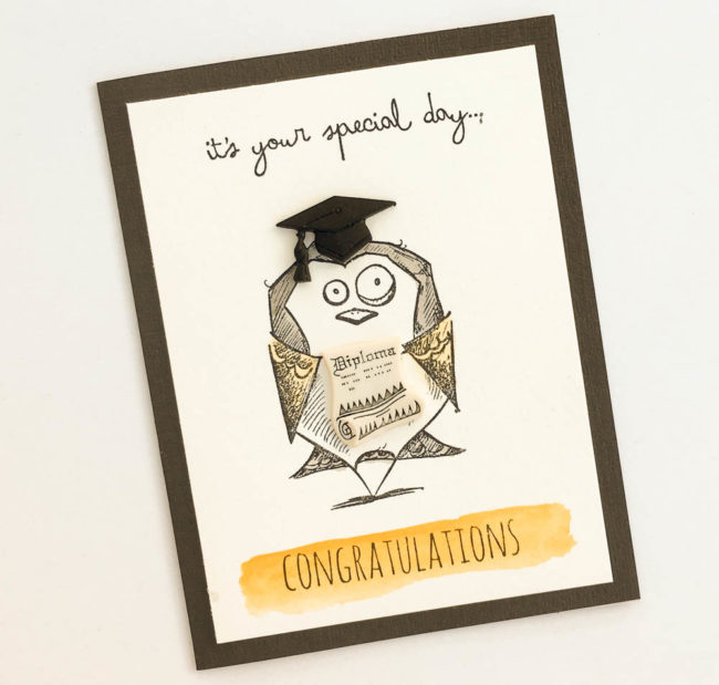 Crazy Bird Graduation Card