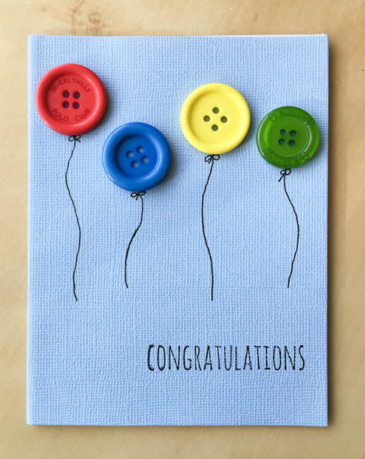 Button Balloon Card