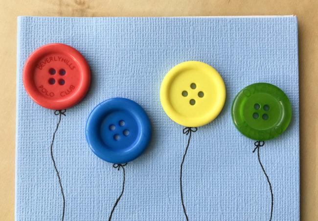 Button Balloon Card