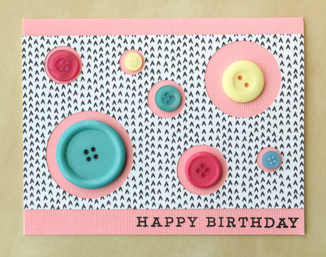 Button Circle Easy Birthday Card