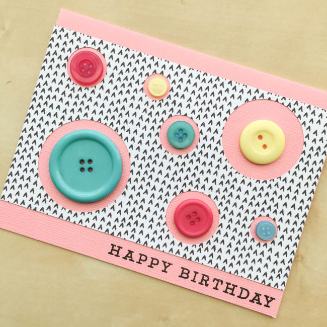Button Circle Easy Birthday Card