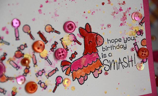 Fiesta birthday card close-up