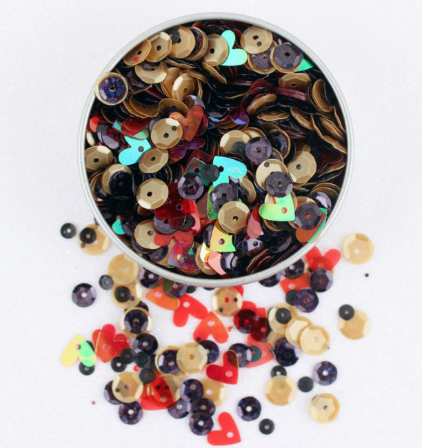 LL320 Happy Place sequin tin