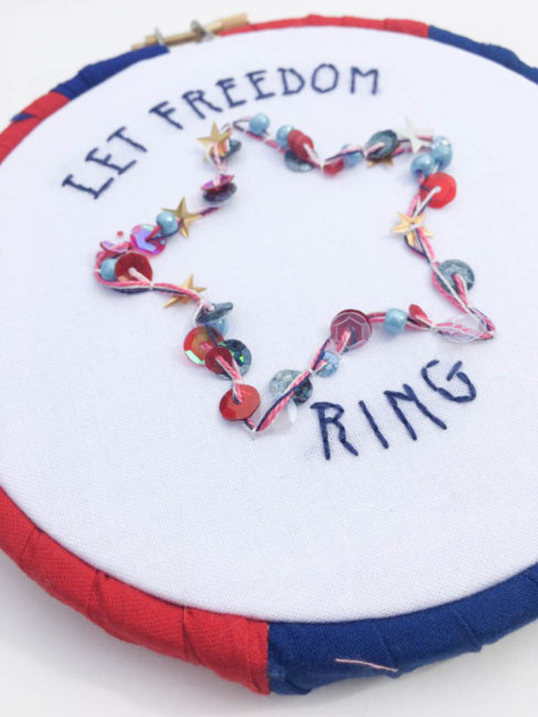 Patriotic Hoop Wall Art