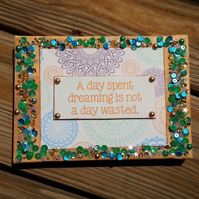 quote wall hanging