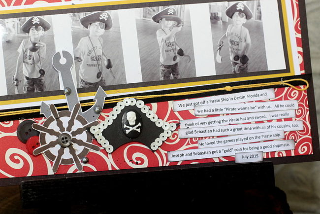A Pirate's Life scrapbook layout
