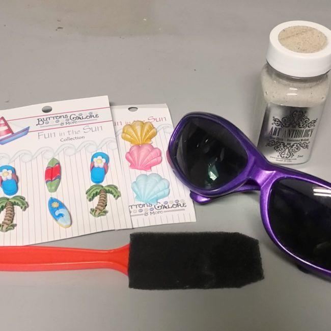 beach crafty sunglasses supplies