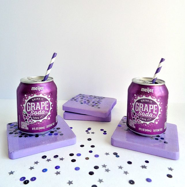 DIY Sequin Coasters