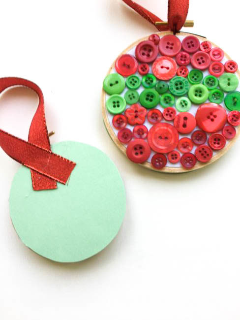 Easy Button Christmas Ornaments