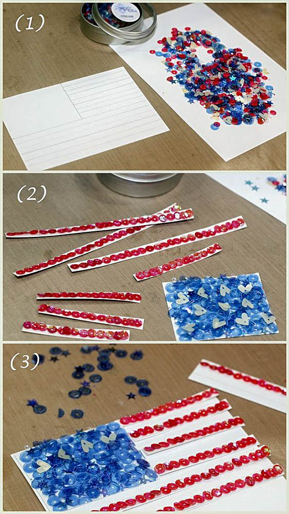 sequin flag instructions