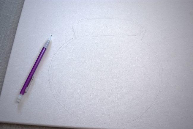 Pencil Sketch Vase