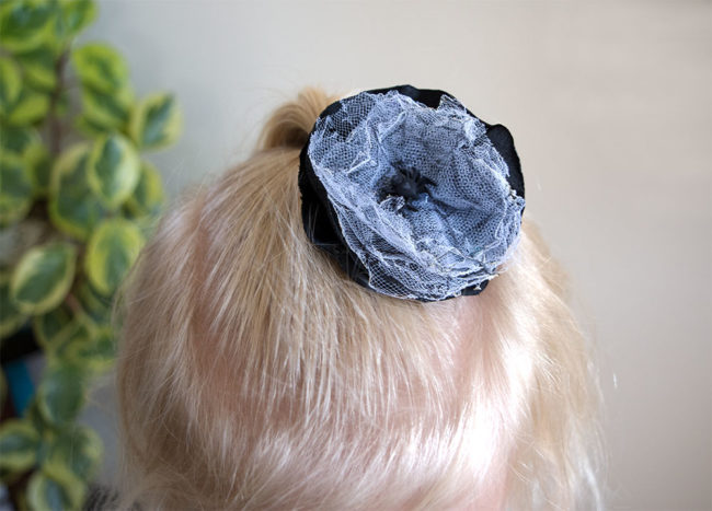 Halloween Spider Web Hair Bow