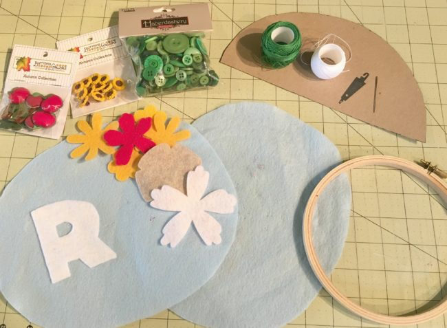 learn to sew with a fall hoop project