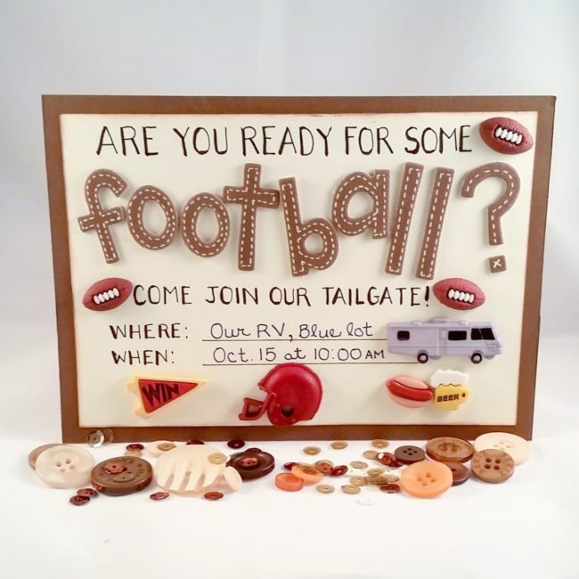 DIY tailgate party invitation