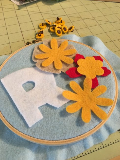 learn to sew fall hoop project