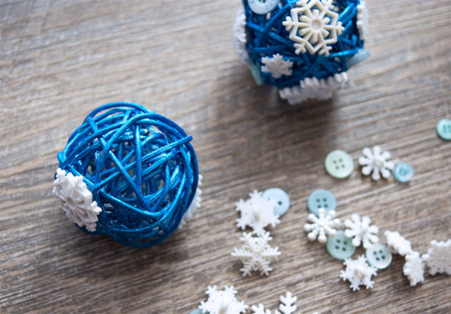 Snowflake Button Ornaments