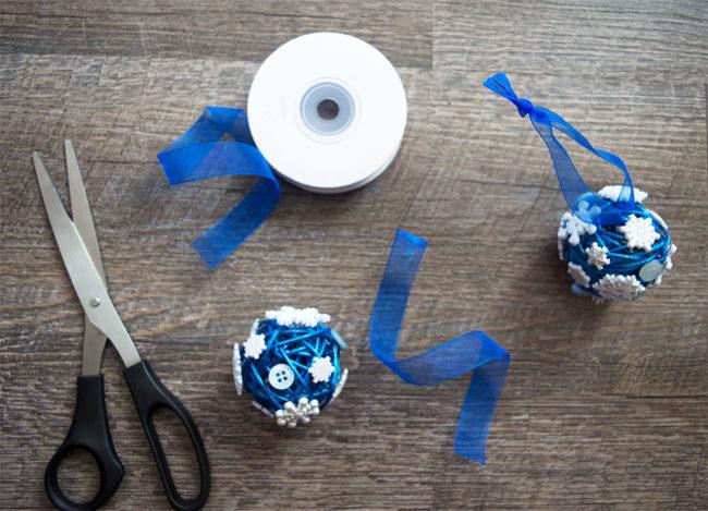 Ribbon Button Snowflake Ornaments