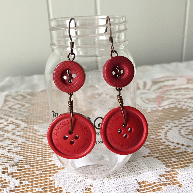 DIY dangle earrings