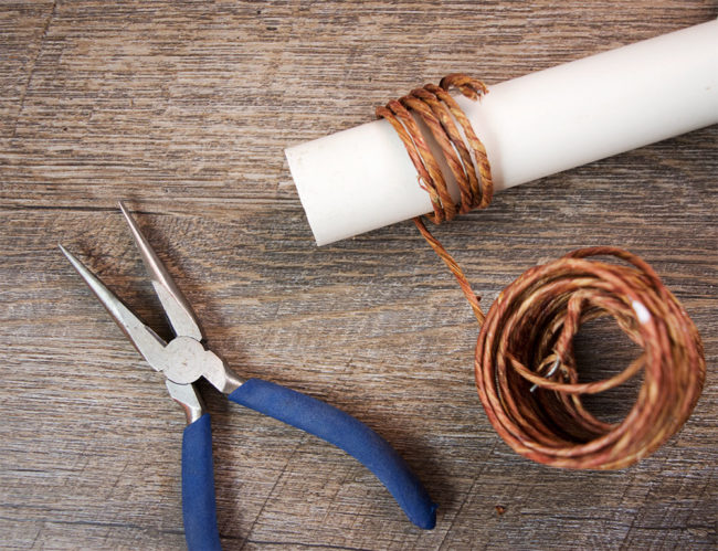 wrapping the napkin ring wire