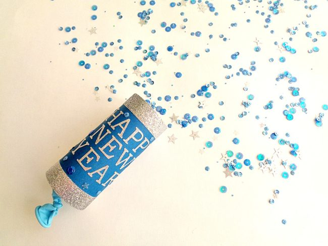 New Year's Eve DIY Confetti Poppers