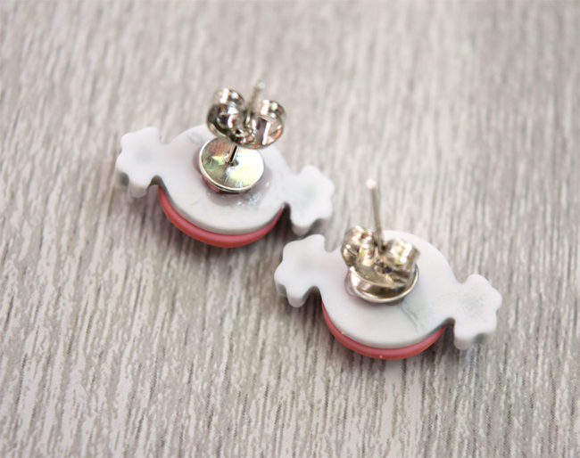 Candy Treats Button Earring Posts