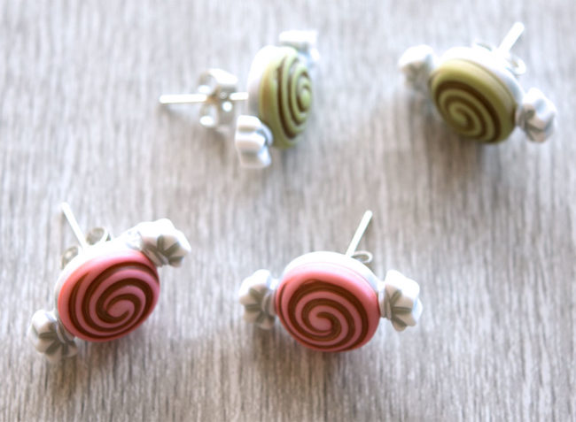 DIY candy earrings