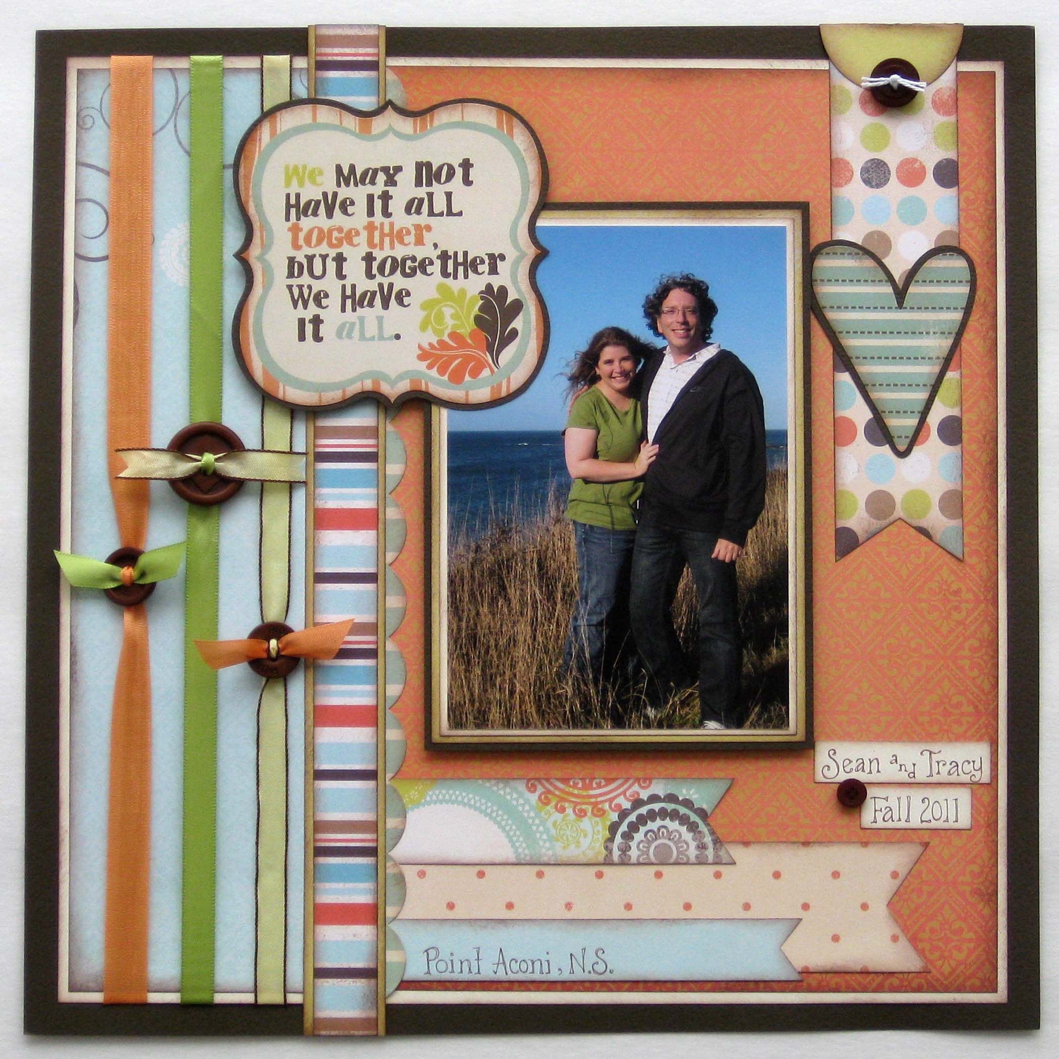 Photo Page: Brown Button Border Layout